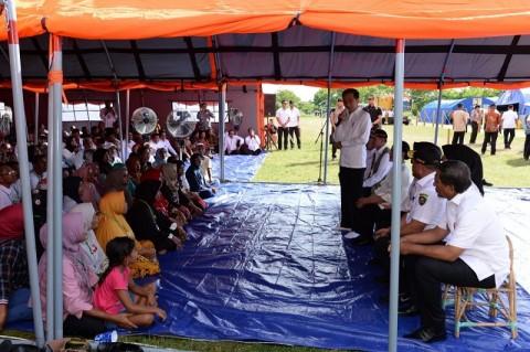President Visits Maluku Earthquake Survivors