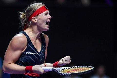 Kiki Bertens Tekuk Petenis Terbaik Dunia di WTA Finals