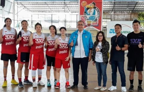 CdM SEA Games Semangati Tim Bola Basket 3x3 Putri Indonesia