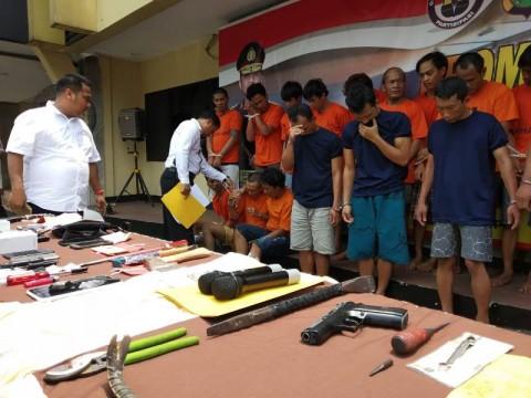 Polres Depok Tangkap 25 Penjahat dalam Satu Bulan
