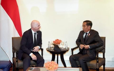 Bertemu Presiden FIFA, Presiden Jokowi Jamin Kesuksesan Piala Dunia U-20