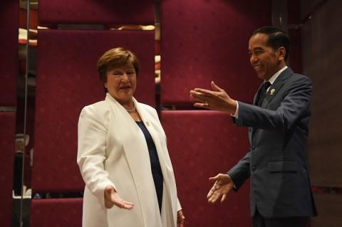 Jokowi Bertemu Direktur Pelaksana IMF di KTT ASEAN