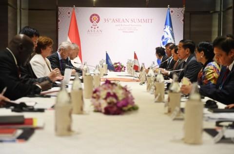 Presiden Jokowi Bahas Kondisi Ekonomi Global Bareng IMF