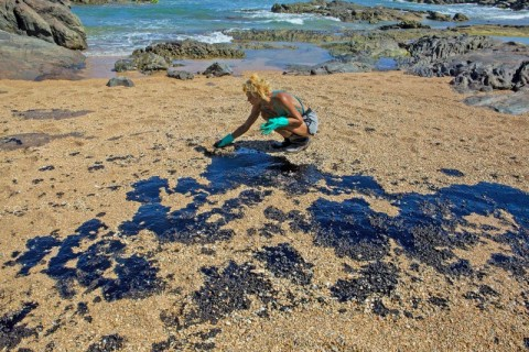Presiden Bolsonaro Remehkan Tumpahan Minyak di Pantai Brasil
