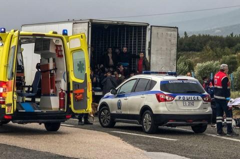 Polisi Yunani Temukan 41 Imigran dalam Truk Pendingin