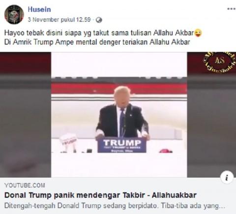 Donald Trump Panik Diteriaki Allahu Akbar? Ini Faktanya