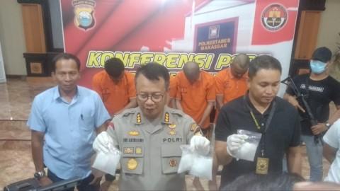 Peredaran 1,3 Kg Sabu di Makassar Digagalkan
