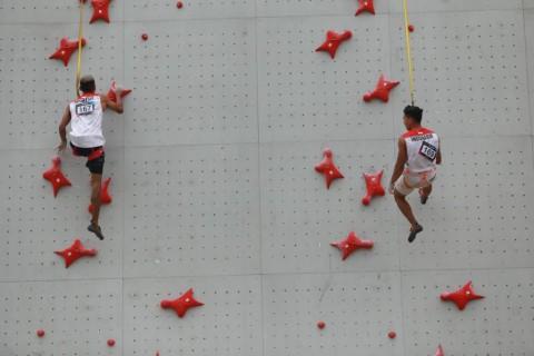 Tim Panjat Tebing Indonesia Sapu Emas Speed Relay