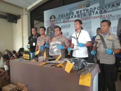 145 Preman di Jakarta Utara Diringkus dalam 3 Hari Operasi