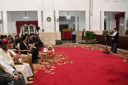 Hormati Ma'ruf, Jokowi Tak Sambutan di Maulid Nabi
