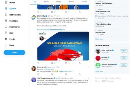 Hari Pahlawan Diperingati Warganet di Twitter