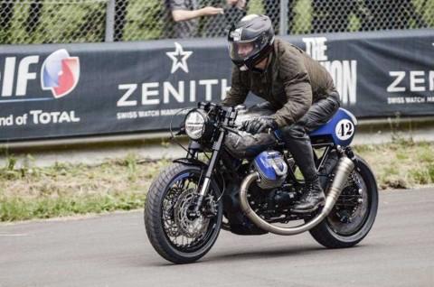 Intip Modifikasi Moto Guzzi Bergaya Cafe Racer
