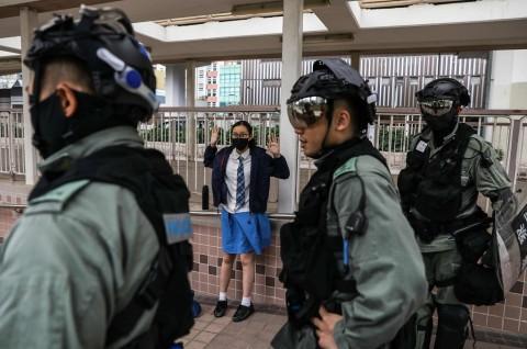 Tiongkok Puji Sikap Menahan Diri Polisi Hong Kong