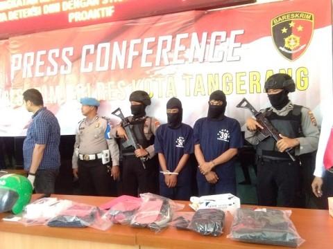 Spesialis Perampok Miniswalayan di Tangerang Ditangkap