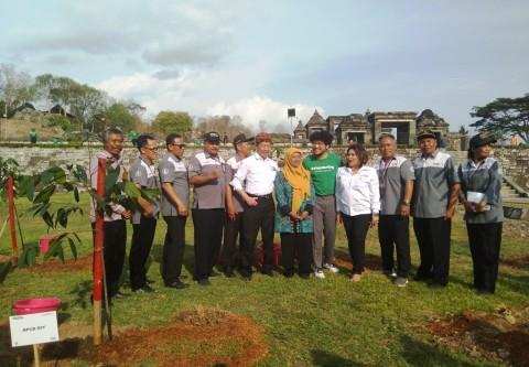 Ratusan Mahasiswa Tanam Pohon di Situs Ratu Boko