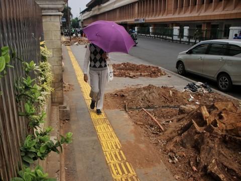 Anggaran Dipangkas, Revitalisasi Trotoar Tetap Jalan