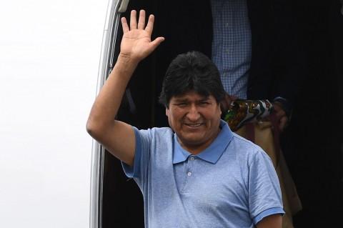 Evo Morales Tiba di Meksiko