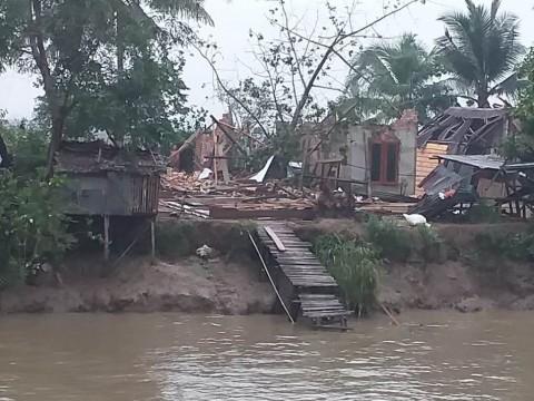 Puting Beliung Rusak 82 Rumah Warga di Banyuasin
