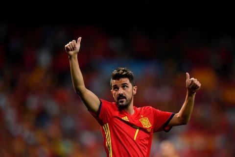 Gantung Sepatu, David Villa Sebut Aragones Pelatih Terbaik
