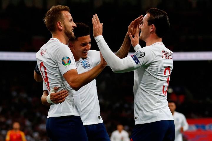 Lumat Montenegro 7-0, Inggris Lolos ke Piala Eropa 2020