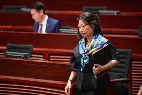 Menteri Kehakiman Diserang, Carrie Lam Kutuk Pedemo London