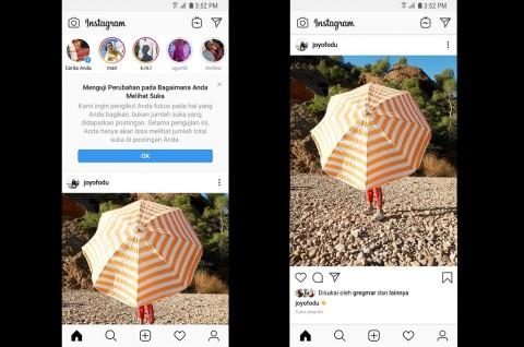 Instagram Uji Coba Sembunyikan Like di Indonesia