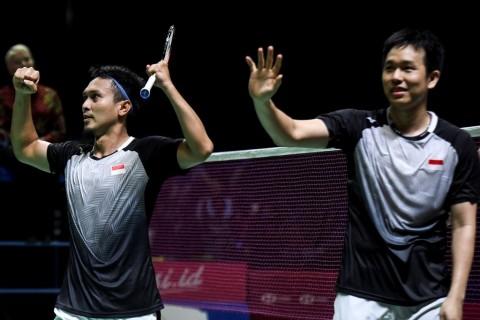 Takluk dari Pasangan Korsel, Ahsan/Hendra Gagal Juara Hong Kong Open
