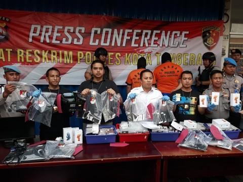 Pabrik iPhone Rekondisi di Tangerang Digerebek