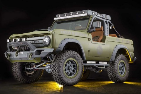 Intip Ford Bronco Klasik Bergaya Militer & Hot Rod Retro