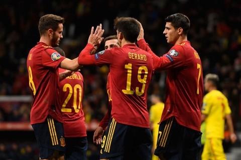 Spanyol Menang Telak 5-0 Atas Rumania