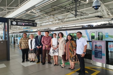 Delegasi Swedia Jajal MRT Jakarta
