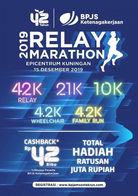 BP Jamsostek Gelar Relay Marathon 2019