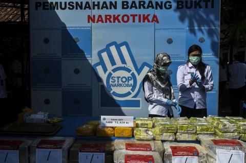 BNN Musnahkan 72 Kg Sabu