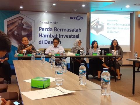 KPPOD Temukan 347 Perda Penghambat Investasi