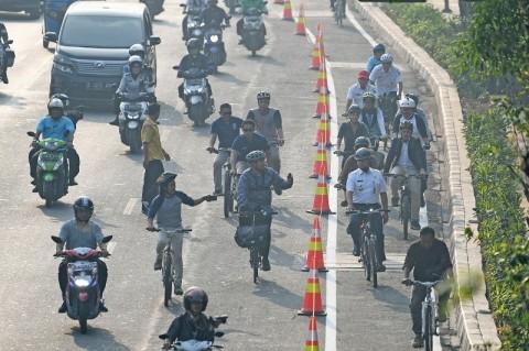 Pesepeda Masuk Badan Jalan Tak Disanksi
