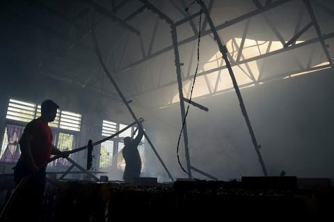 Sebuah SDN di Gorontalo Hangus Terbakar