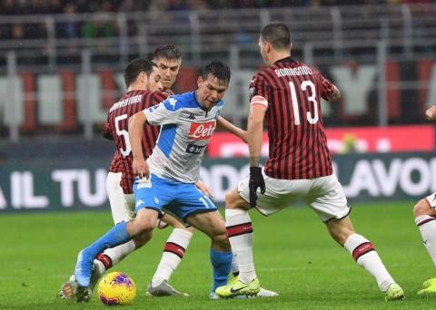 Duel Milan Kontra Napoli Berakhir Tanpa Pemenang