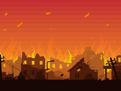 Ratusan Rumah di Pulau Sebuku Terbakar