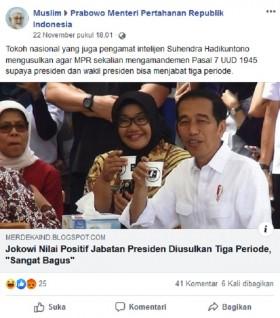 Jokowi Setuju Wacana Masa Jabatan Presiden Tiga Periode? Ini Faktanya