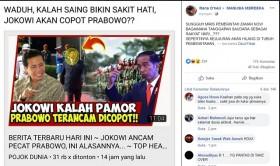 [HOAKS] Jokowi Ancam Pecat Prabowo karena Kalah Pamor