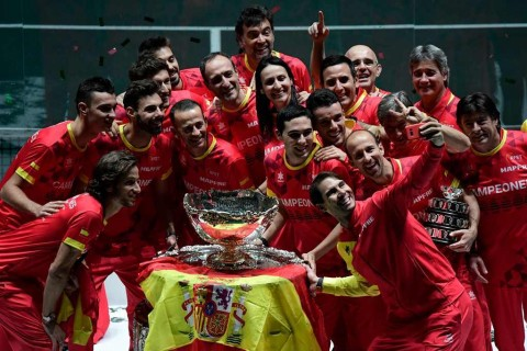 Rafael Nadal Bantu Spanyol Juarai Piala Davis 2019