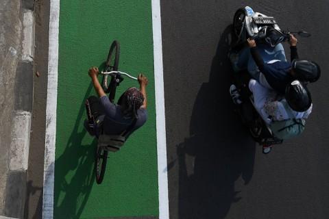 Pengendara Masih Membandel Terobos Jalur Sepeda