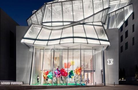 Desain Atap Toko Louis Vuitton yang Unik