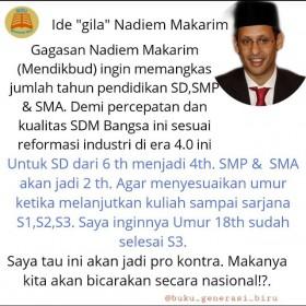 Benarkah Menteri Nadiem akan Pangkas Waktu Pendidikan SD, SMP dan SMA? Ini Faktanya
