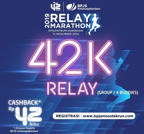 Diserbu Pelari, 3 Kategori BPJS Ketenagakerjaan Relay Marathon Habis