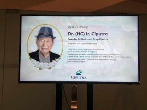 Ciputra's Burial to be Held on December 5 in Jonggol