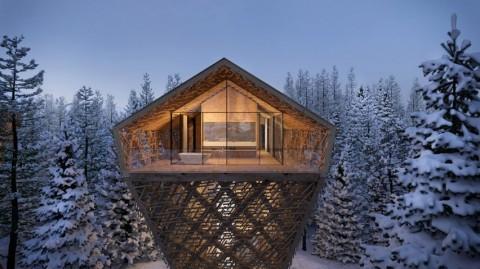 Hotel Menyerupai Rumah Pohon Raksasa di Austria