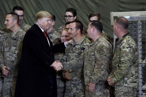 Kunjungan Mengejutkan Trump ke Tentara AS di Afghanistan
