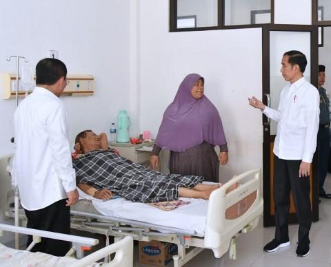 Jokowi Sidak Pelayanan BPJS di RSUD Subang