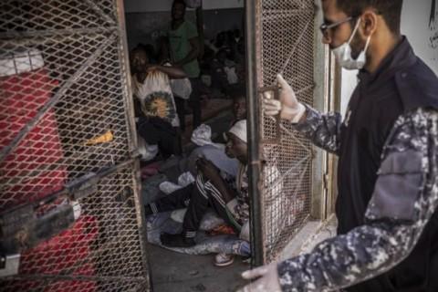 Pengungsi Kelaparan di Fasilitas PBB Libya